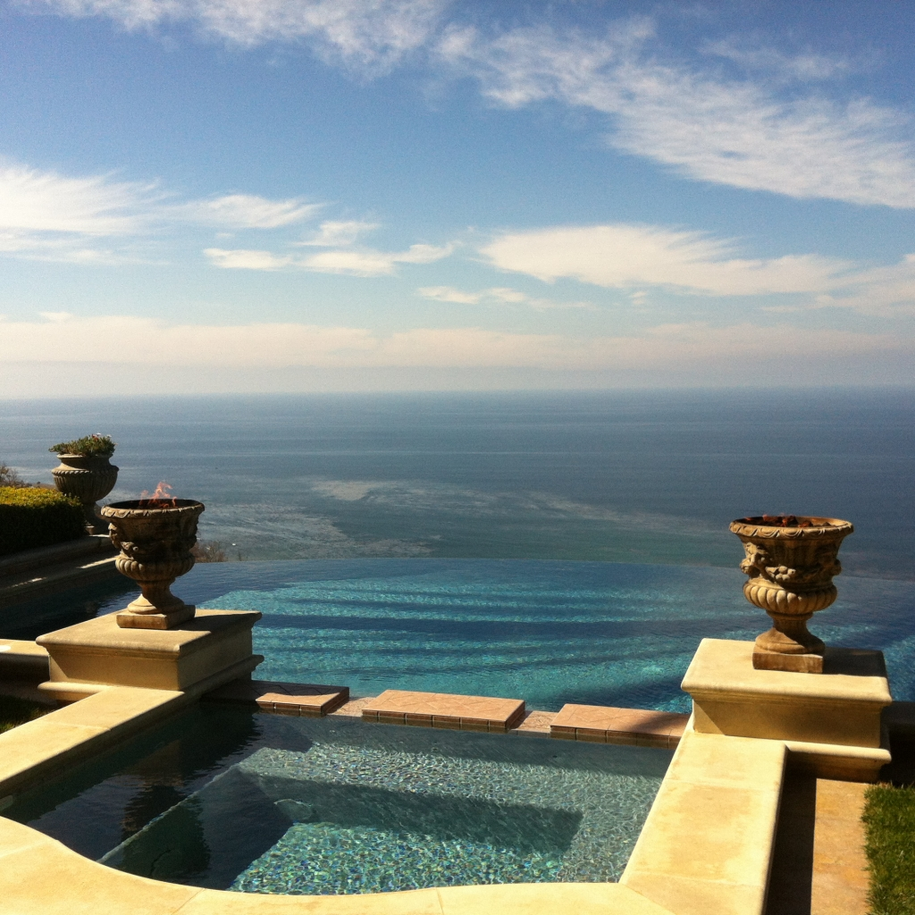 Ocean view from a spa in Palos Verdes Estates