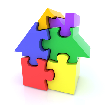 blog house puzzle pieces istock