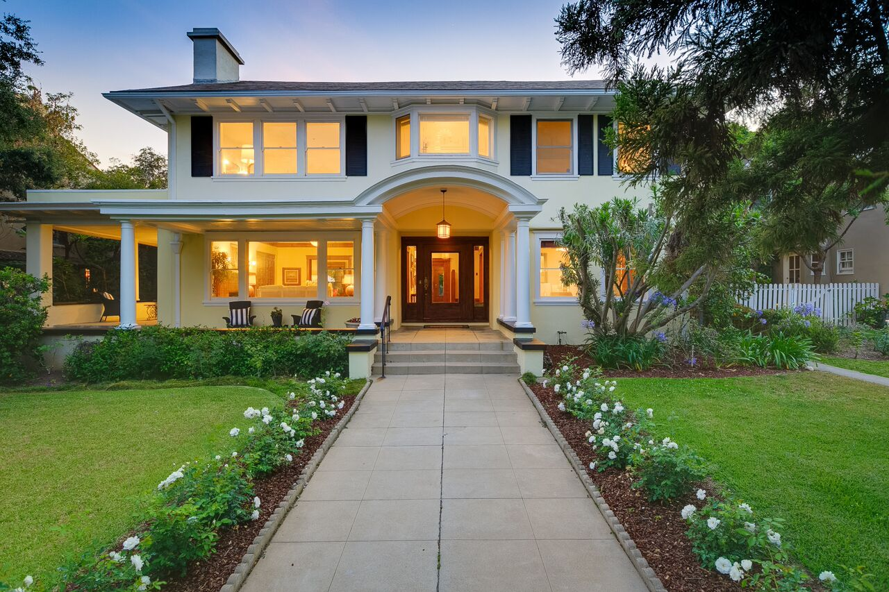 875 S Madison Ave, Pasadena Twilight Front
