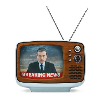 iStock Newscaster on TV