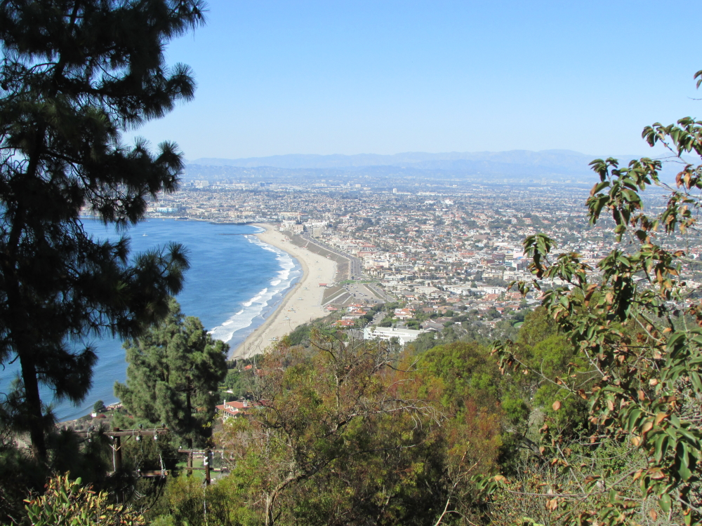 View of the coast in Palos Verdes